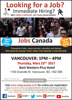 Vancouver Job Fair – Thursday March 23rd, 2017