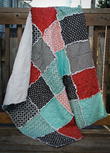 Baby/Crib/Toddler Rag Quilt - new, handmade