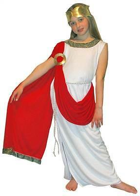 Griechische Göttin Römische Toga Groß Mädchen Kostüm,Kinder Geschichte - Toga Kostüm Kind