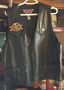 Men's leather jackets and vest