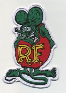OLD STOCK RAT FINK PATCH BADGE HOT ROD DRAG RACE ED BIG DADDY ROTH CHOPPER BIKER