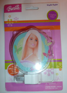 3 plug-in night lights $1 ea or all for $2 Barbie night light $2