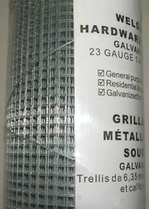 """Wire Fence Welded 23gauge, 1/4"""" Square Mesh, 48"""" x 25feet London Ontario image 1"""
