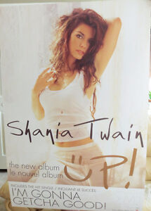 """Shania Twain 2-sided 2002 Promotional Poster """"Up"""" 24""""x36"""""""