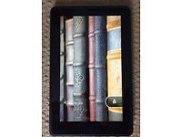 Amazon Kindle Fire with blue case
