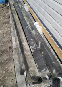 6 pieces of new 4 x 4 x 10-ft Grey Pressure Treated Post