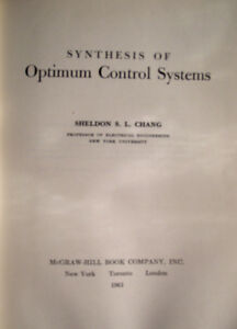 Synthesis of Optimum Control Systems