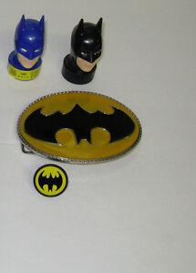 OLDER BATMAN COLLECTIBLES ~CANDY HEADS ~ BELT BUCKLE ~ RING