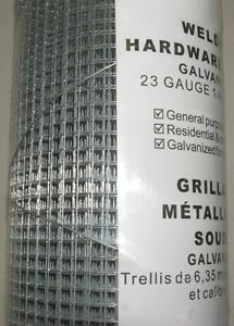 "Wire Fence Welded 23gauge, 1/4"" Square Mesh, 48"" x 25feet"