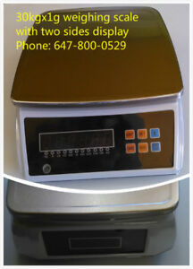 66lbs industrial weighing scale with two sides display