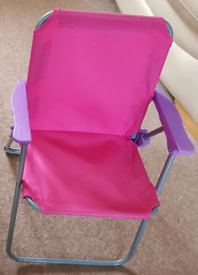 Kids chair, foldable, pink