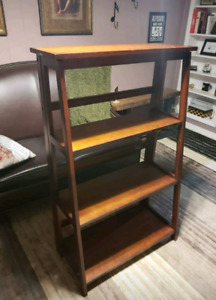 4 tier wood display shelf (foldable for storage)