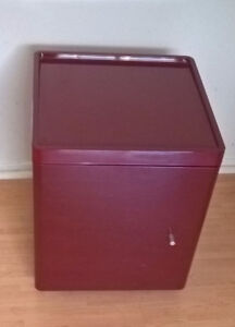 Red Lacquer End Table Nighstand - Side Tables