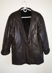 Louis Féraud PARIS Leather Jacket Coat with real fur lining vest