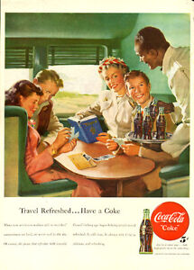 Large (10 ¼ x 13 ¼ ) 1948 full-page vintage ad for Coca-Cola