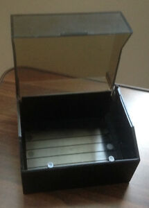 New Esselte Card File Box in Black with Tinted Colored Cover
