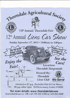 Thorndale 12th Annual Lions Car Show