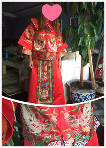 Chinese wedding clothes.