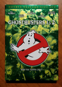 Ghostbusters 1 & 2 dvd with sketchbook