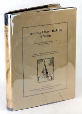 1929 American Church Building Of Today Ralph Adams Cram Hardcover W Dustjacket