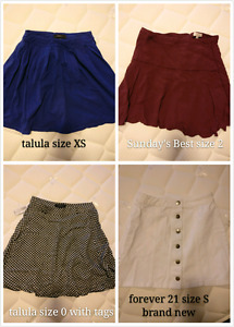 Spring / Summer skirts ( talula, aritzia, forever 21)