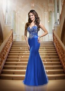 Royal Blue Jersey Enchanted Disney Prom Dress