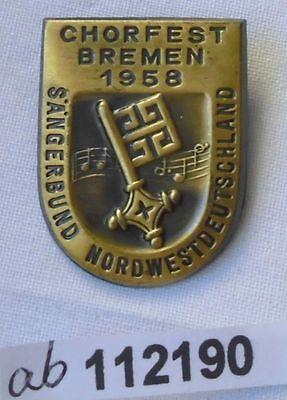 altes Abzeichen Chorfest Bremen 1958 Sängerbund Nordwestdeutschland (112190)