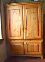 Large, Solid-Wood Armoire