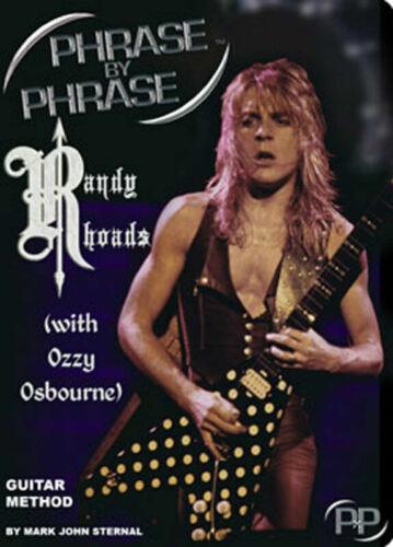 Play the best of Randy Rhoads Ozzy Osbourne Guitar Lesson DVD Guitar Method