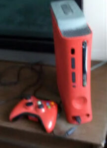Red XBox 360 plus 16 games