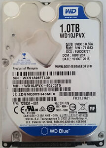 500, 750, 1000 GB Internal Hard Drives HDD for Laptops
