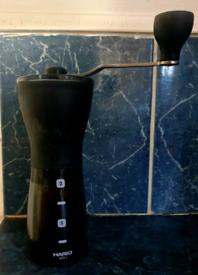 Coffee machine and bean grinder.