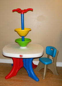 Fisher Price Tricycle & Step 2 art table and chair