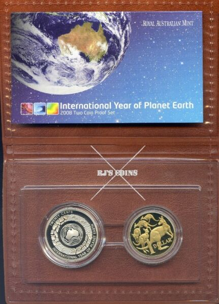 "FIRST ISSUE - Australian 2008 International Year of Planet Earth ""Two Coin"" Proof Set"