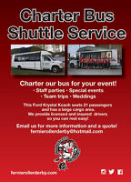 Charter bus for hire * WEDDINGS*STAFFPARTIES*TEAMTRIPS
