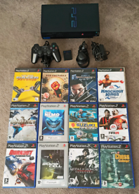 PS2 PlayStation with controller, Memory, 12 Games and all leads