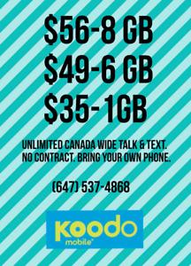 Koodo Plans. $50 Setup Fee. $50 Bill Credit