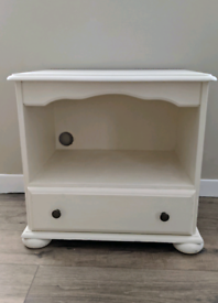 Solid Wood TV Unit with Drawer