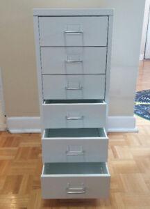 Ikea Helmer, white helmer, six drawers, on rollers