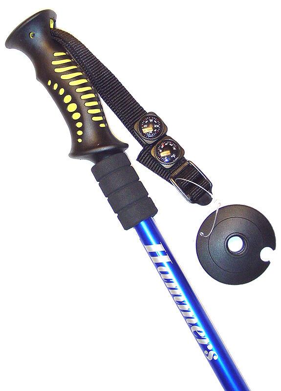 Hammers Blue Anti-Shock Hiking Trekking Pole Walking Stick 9