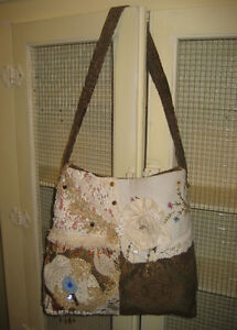 New,HandMade Tapestry Hobo/ Gypsy Bag w/Lace & Trims!~OOAK!