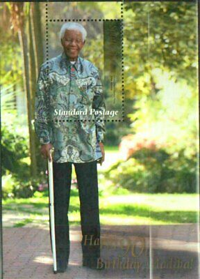 NELSON MANDELA 90TH BIRTHDAY SOUVENIR SHEET (A) VFINE MNH  for sale  Shipping to South Africa