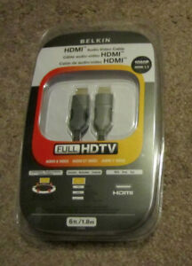 BELKIN HDMI AUDIO VIDEO CABLE – 1080P HDMI 1.3 – HD TV – 6FT