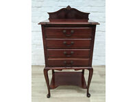 Mahogany Sheet Music Chest Of Drawers (DELIVERY AVAILABLE)