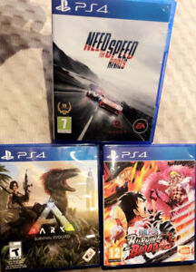 PS4 games almost new!