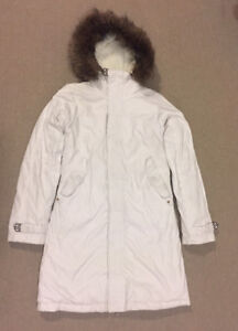 Aritzia Parka in Bright White (TNA Brand) - Size Small