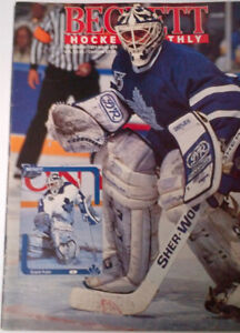 Hockey Beckett card price guides early 90s