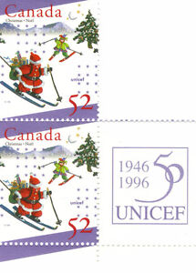 Canada Stamps - UNICEF 50the Anniversary 1946-1996 52c (2) West Island Greater Montréal image 1