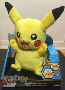 Pokemon PIKACHU PLUSH lights, moves, sounds and phrases [BRAND N