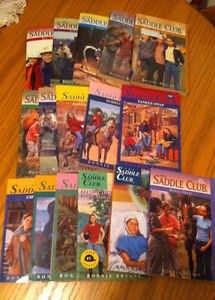 lot of soft cover SADDLE CLUB series books
